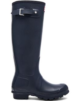 Original Tall Women Round Toe Synthetic Blue Rain Boot