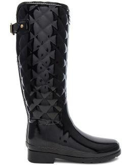 Refined Gloss Quilt Tall Boot