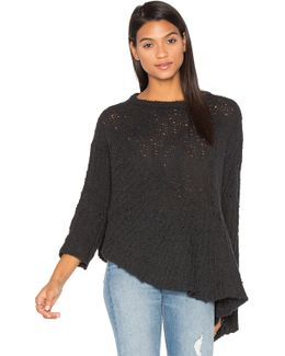 Drape Asymmetric Wool-Blend Sweater
