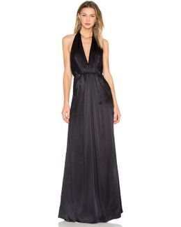 Plunge Halter Gown