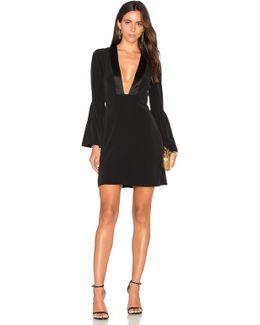 Plunging V Neck Mini Dress