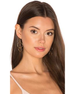 Double Drop Hoop Earrings