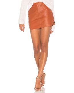 Jacob Leather Skirt