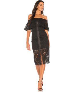 Star Crossed Lace Midi Dress
