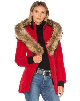 Adali Coat With Asiatic Raccoon Fur Trim