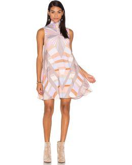 Prism Turtleneck Swing Dress