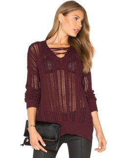 V Neck Lace Up Tunic