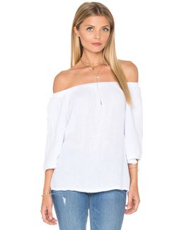 Double Gauze Off Shoulder Top
