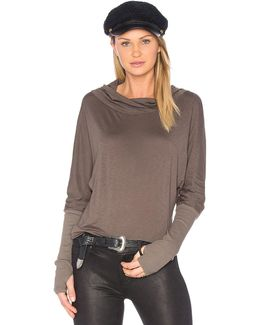 Luxe Slub Cowl Neck Top