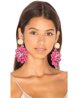 Pasionaria Flower Earrings