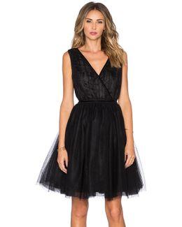 Tulle Cross Front Mini Dress
