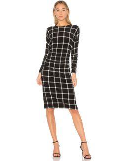 Dolman Shirred Waist Dress