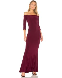 X Revolve Off The Shoulder Fishtail Gown