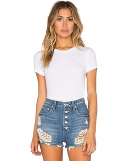Feather Weight Rib T-shirt Bodysuit