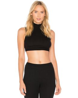 Feather Weight Rib Mock Neck Crop Top