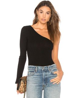 Wide Wale Rib One Shoulder Bodysuit
