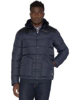 Rockwool Leather And Shearling Yoke Down Jacket