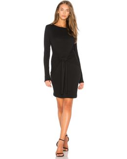 Pique Tie Front Dress