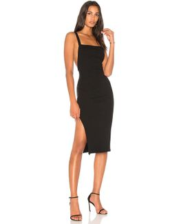 Luxe Rib Low Back Dress