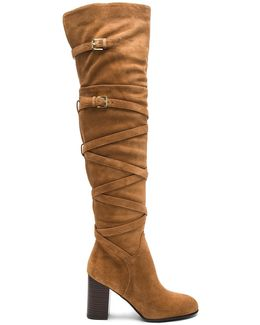Sable Suede Knee-High Boots
