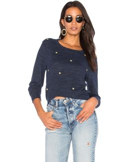 Burnout Star Patches Sweater