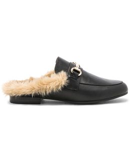 Jill Faux Fur Slide