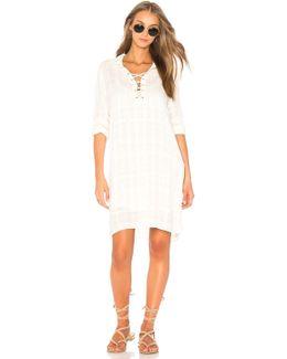 Sandbar Stripe Lace Up Dress