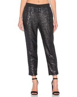 Sequin Embellished Sweatpant