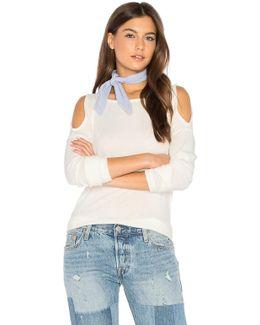 Cold Shoulder Loose Knit Top