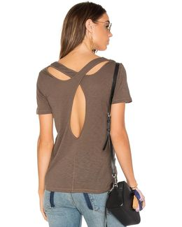 Cross Back Slub Tee