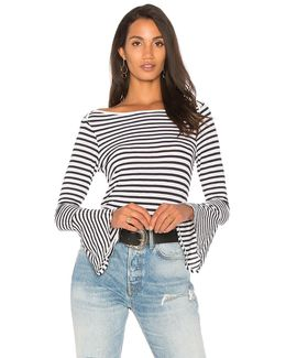 French Stripe Bell Sleeve Tee