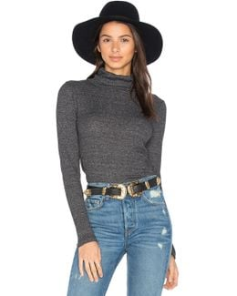 2x1 Rib Funnel Neck Top