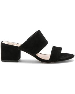 Franine Leather Slide Sandals