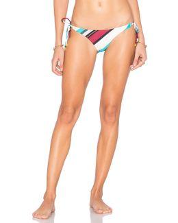 Vintage Stripe Long Tie Bikini Bottom