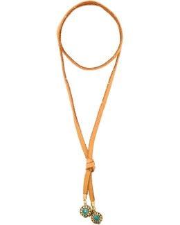 Leather & Nepali Bead Bolo