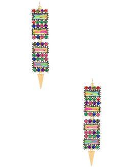 X Revolve Gemstone Earrings