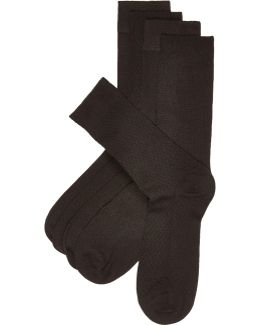 Black Bamboo Texture Socks Multipack