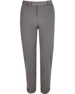 Light Grey Slim Suit Trousers