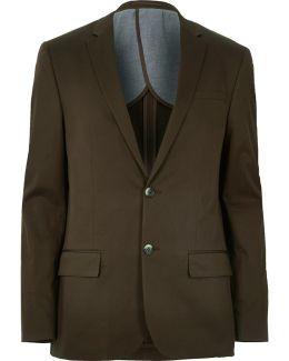 Dark Green Skinny Suit Jacket