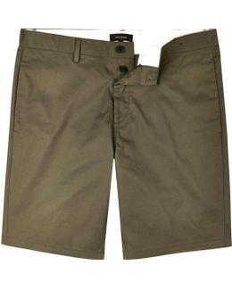 Khaki Slim Fit Chino Shorts