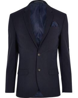 Dark Blue Stretch Slim Fit Suit Jacket