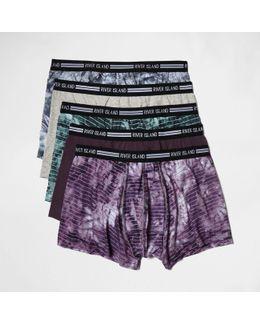 Purple Tie Dye Hipsters Multipack