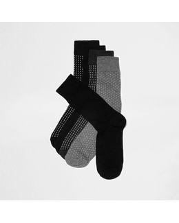 Dark Blue Spotted Socks Multipack