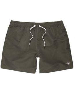 Khaki Green Swim Shorts