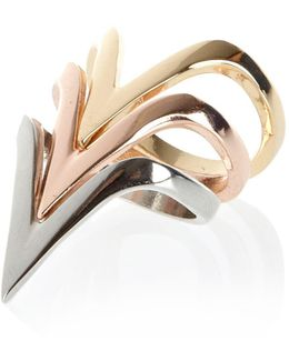 Mixed Metal Triangle Stacking Ring Pack