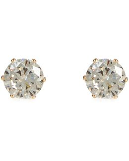 Cubic Zirconia Large Diamond Stud Earrings