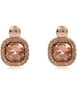 Rose Gold Gemstone Stud Earrings
