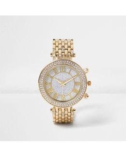 Gold Tone Diamant Watch