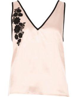 Blush Pink Floral Applique Pyjama Top