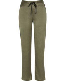 Khaki Satin Pyjama Trousers